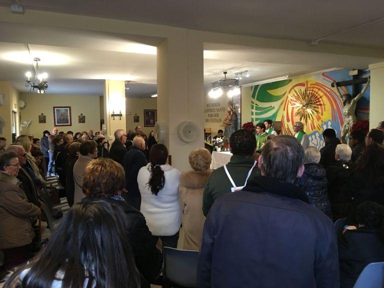 Eucaristía dominical en la parroquia de hoy, presidida por el P. Michel CMF, del Equipo de PJV Bética