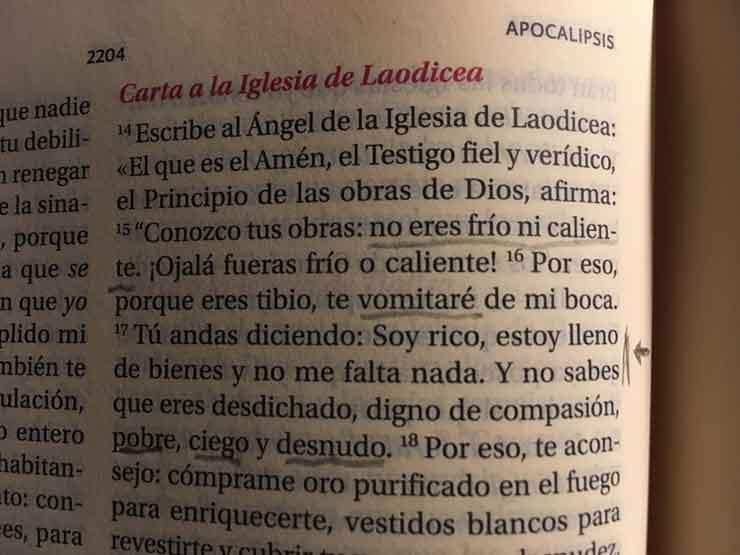 Apocalipsis 3, 15-17